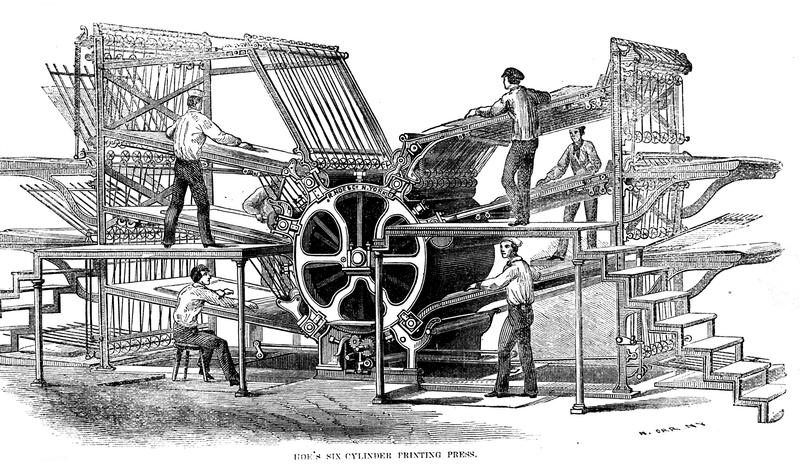 Hoes 1864 Printing Press