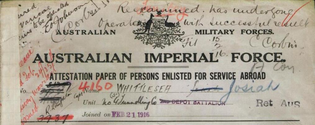 Great Uncle Josiah Goes To War